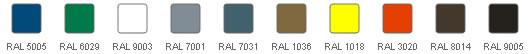Standard Farben – RAL
