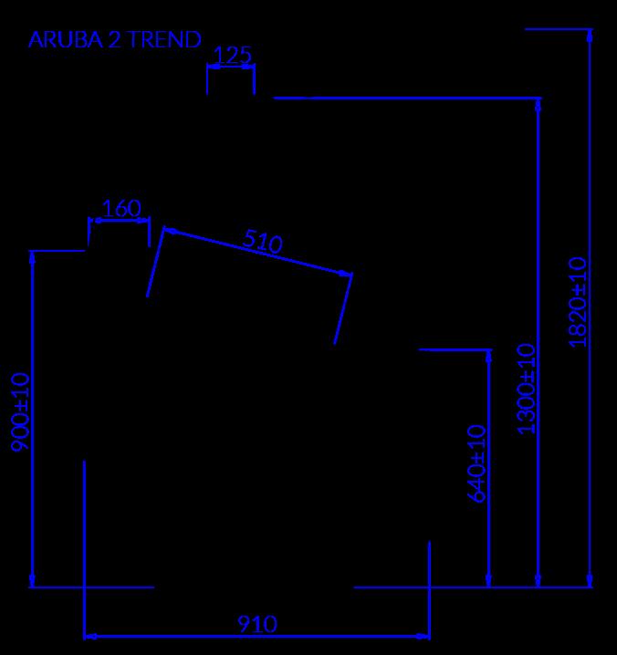 Rysunek techniczny Dystrybutor do lodów ARUBA 2 TREND