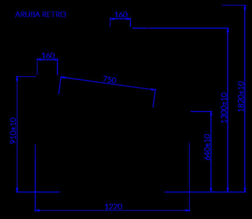 Rysunek techniczny Dystrybutor do lodów ARUBA RETRO