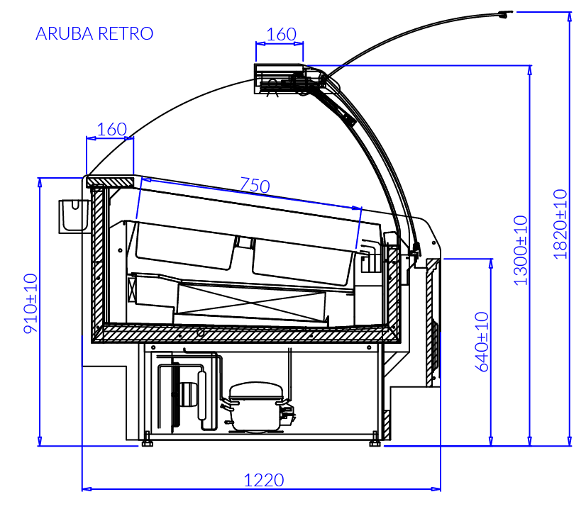 Rysunek techniczny ARUBA RETRO