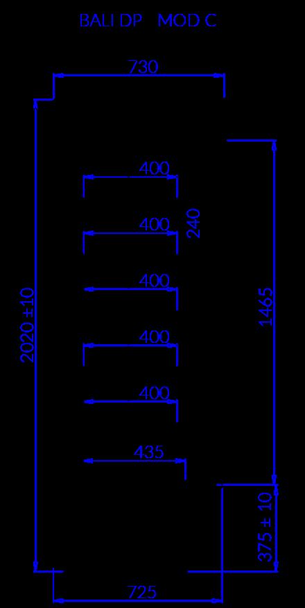 Rysunek techniczny BALI DP MOD C
