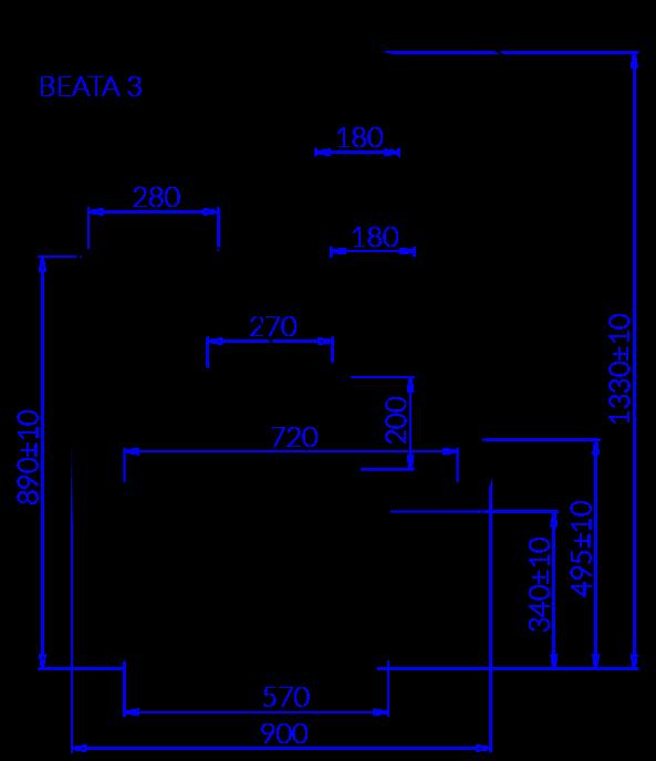 Rysunek techniczny Witryna cukiernicza BEATA 3
