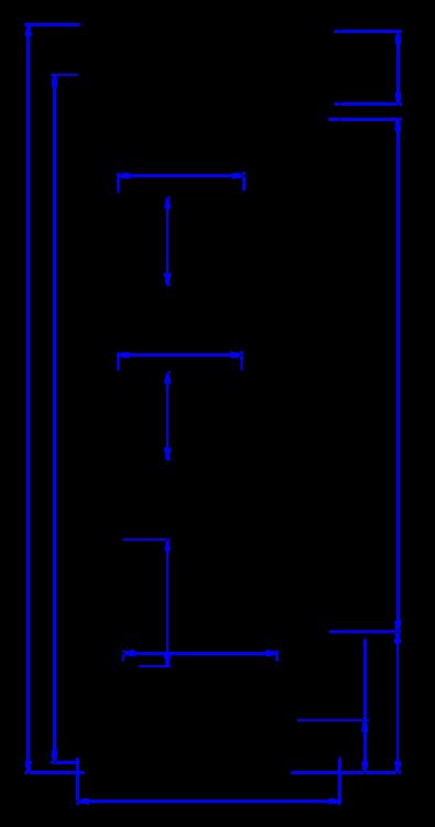 Rysunek techniczny Regał chłodniczy COSTA MOD C