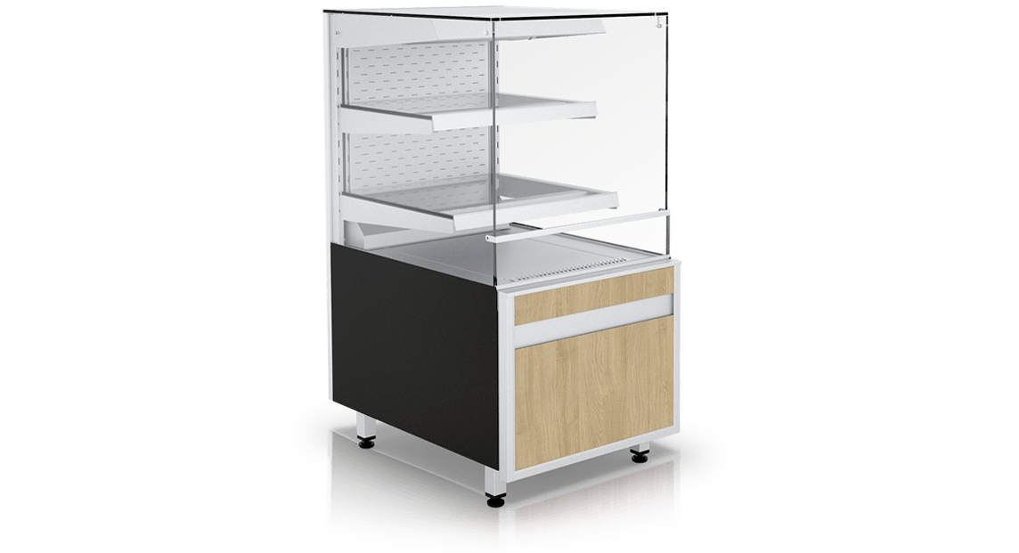 Pastry display counter GASTROLINE CUBE W OPEN