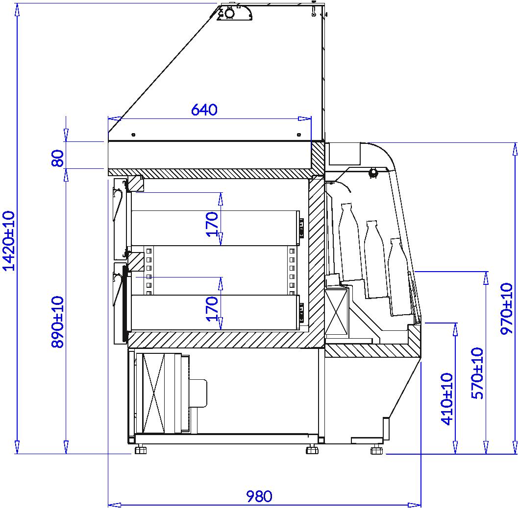 Rysunek techniczny HDM HOT DOG