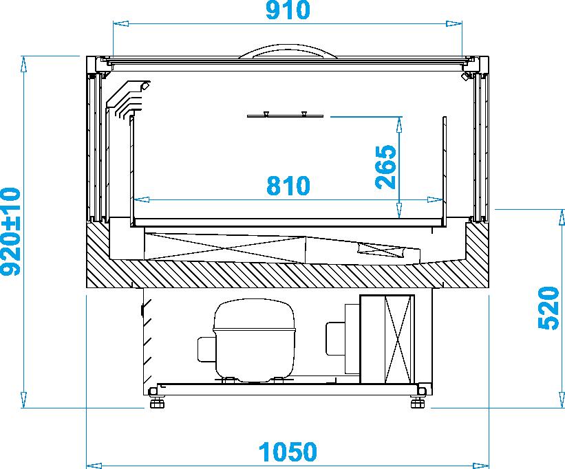 Rysunek techniczny Wyspa mroźnicza ICECRAFT