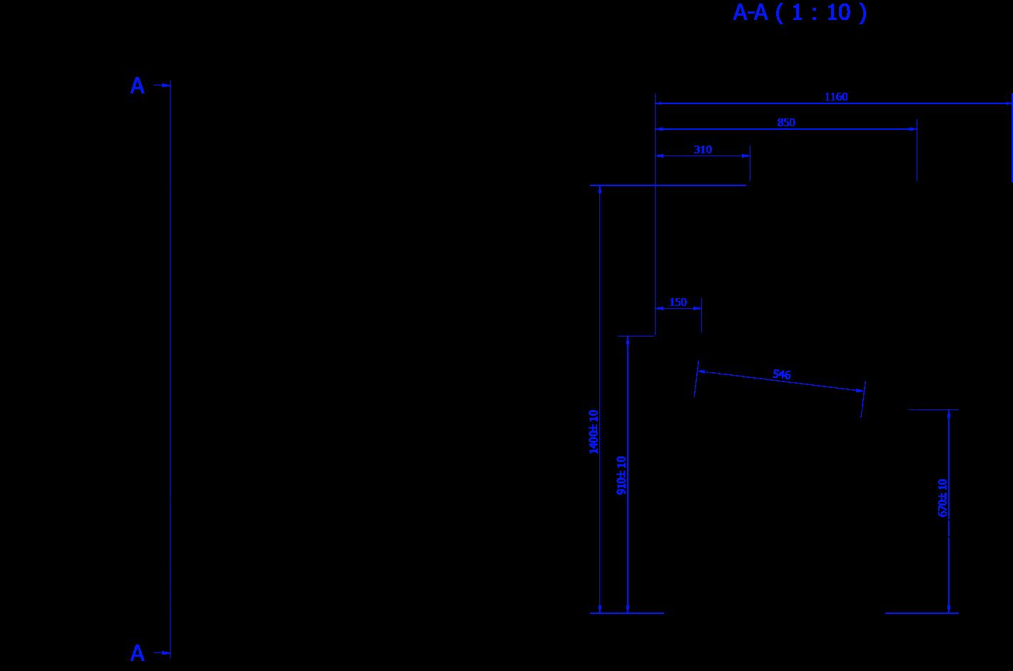 Rysunek techniczny Dystrybutor do lodów INNOVA ICE MOD C