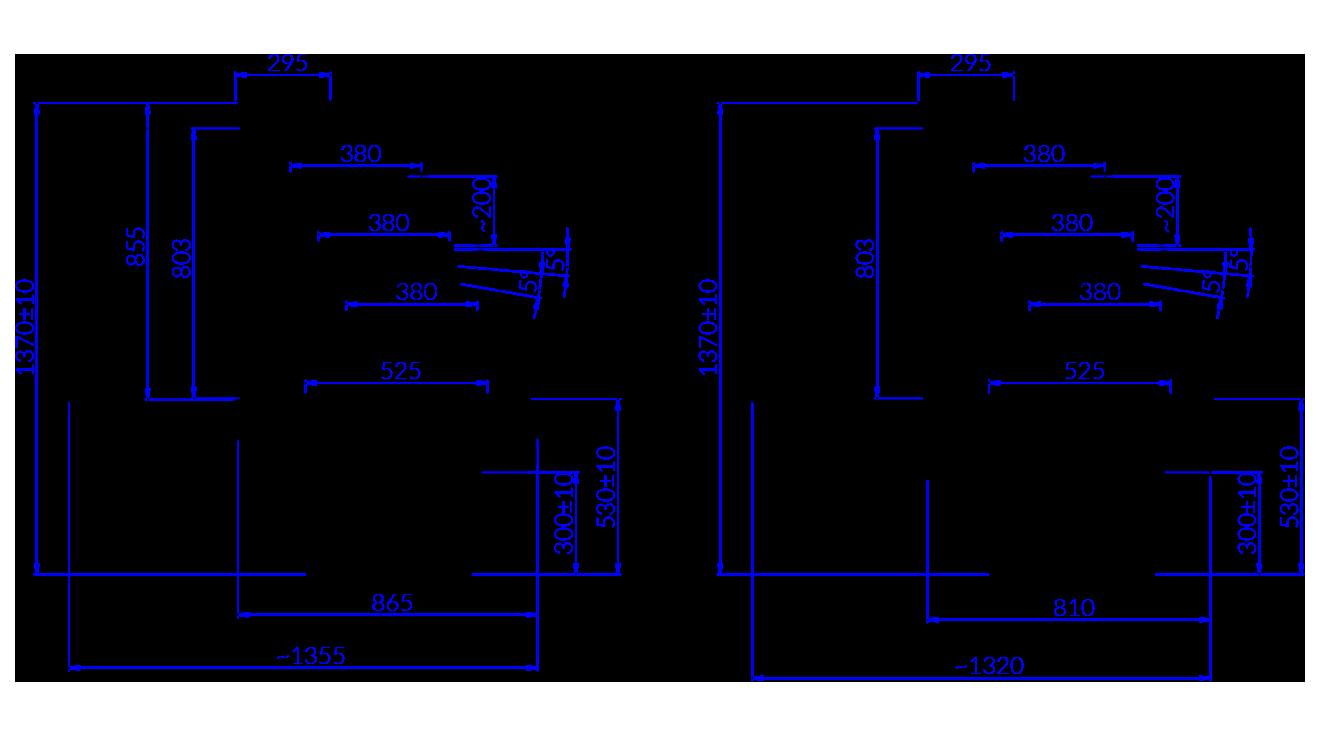 Rysunek techniczny Witryna cukiernicza JAMAJKA 2