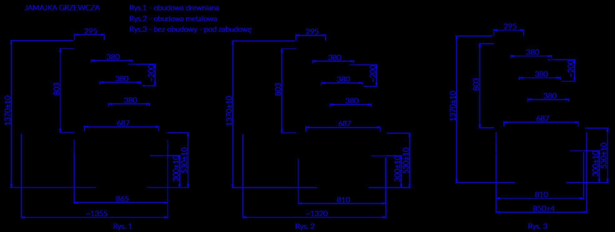 Rysunek techniczny Witryna Grzewcza JAMAJKA G