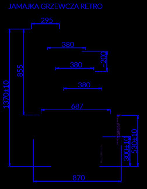 Rysunek techniczny Witryna Grzewcza JAMAJKA G RETRO