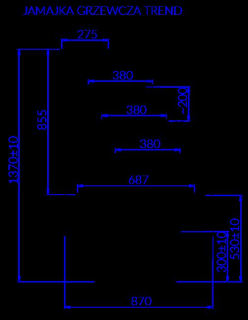 Rysunek techniczny JAMAJKA G TREND