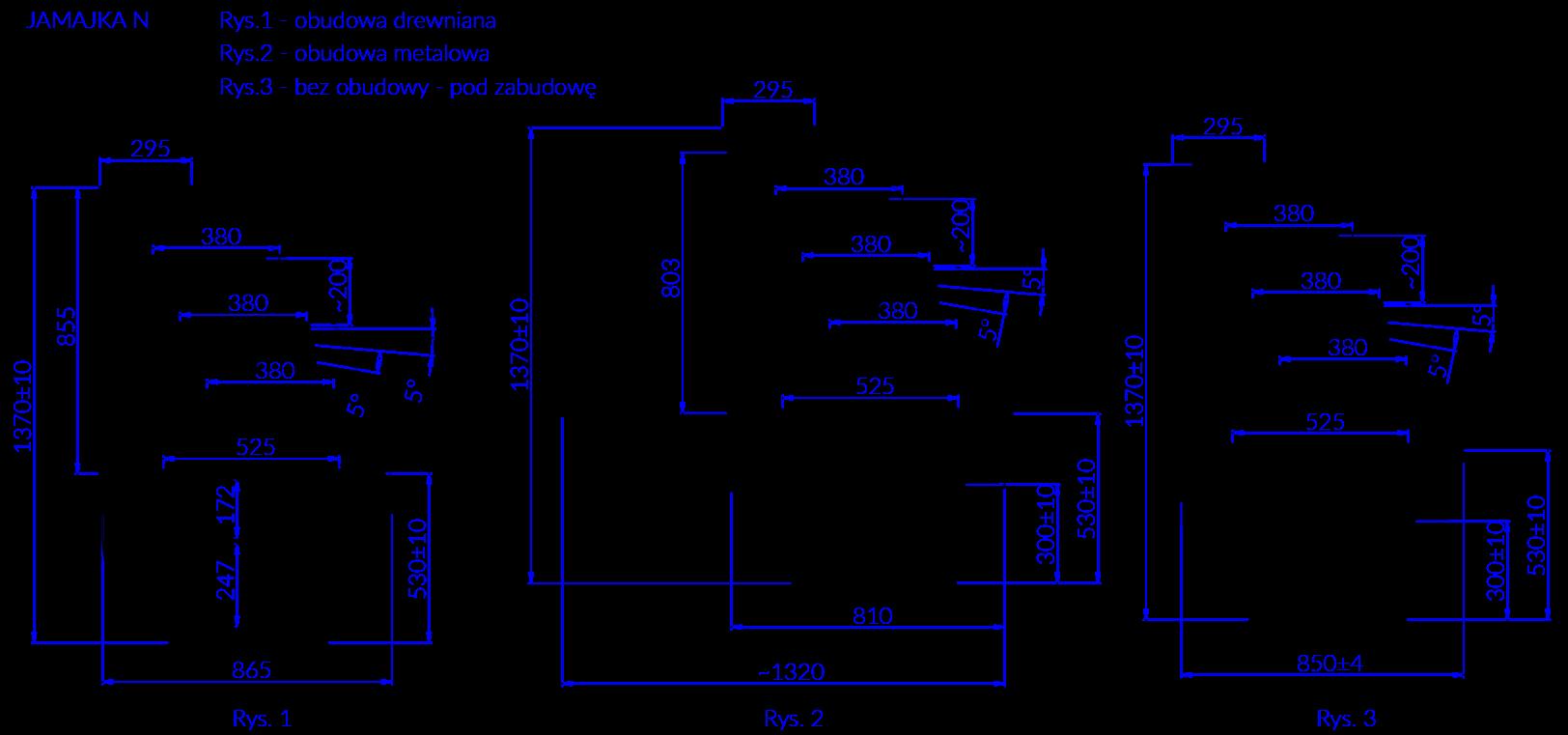 Rysunek techniczny Witryna cukiernicza JAMAJKA N MOD