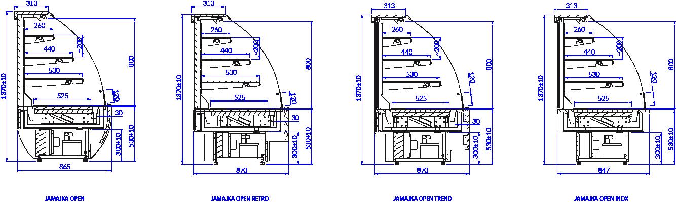 Rysunek techniczny Witryna cukiernicza JAMAJKA W OPEN