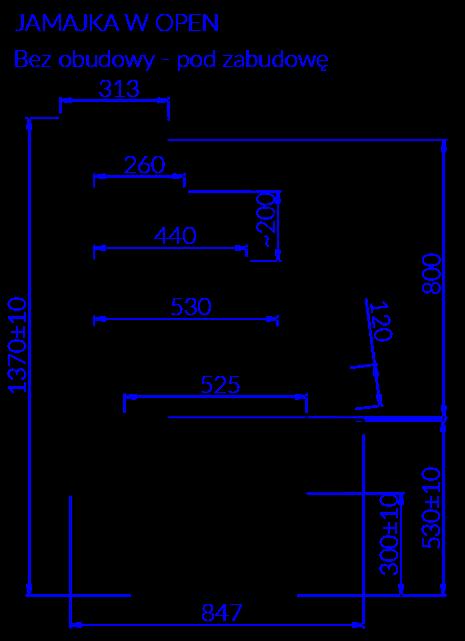 Rysunek techniczny Witryna cukiernicza JAMAJKA W OPEN MOD C