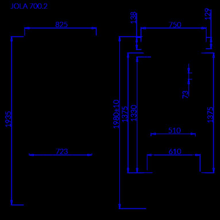 Rysunek techniczny Szafa chłodnicza JOLA 2