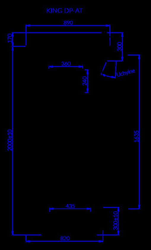 Rysunek techniczny Regał chłodniczy KING DP AT