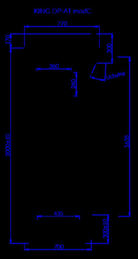 Rysunek techniczny Regał chłodniczy KING DP AT MOD C