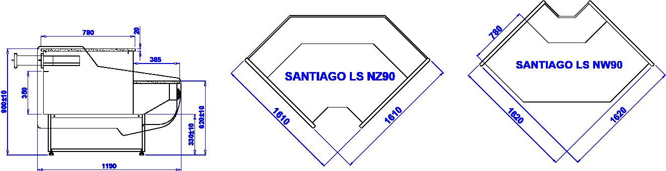 Rysunek techniczny Lada kasowa Santiago LADA SANTIAGO