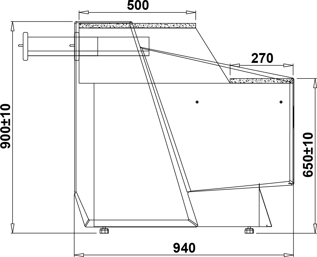 Rysunek techniczny Lada kasowa Sumba DRE LADA SUMBA DRE