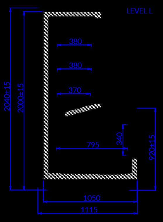 Rysunek techniczny Szafoboneta LEVEL L