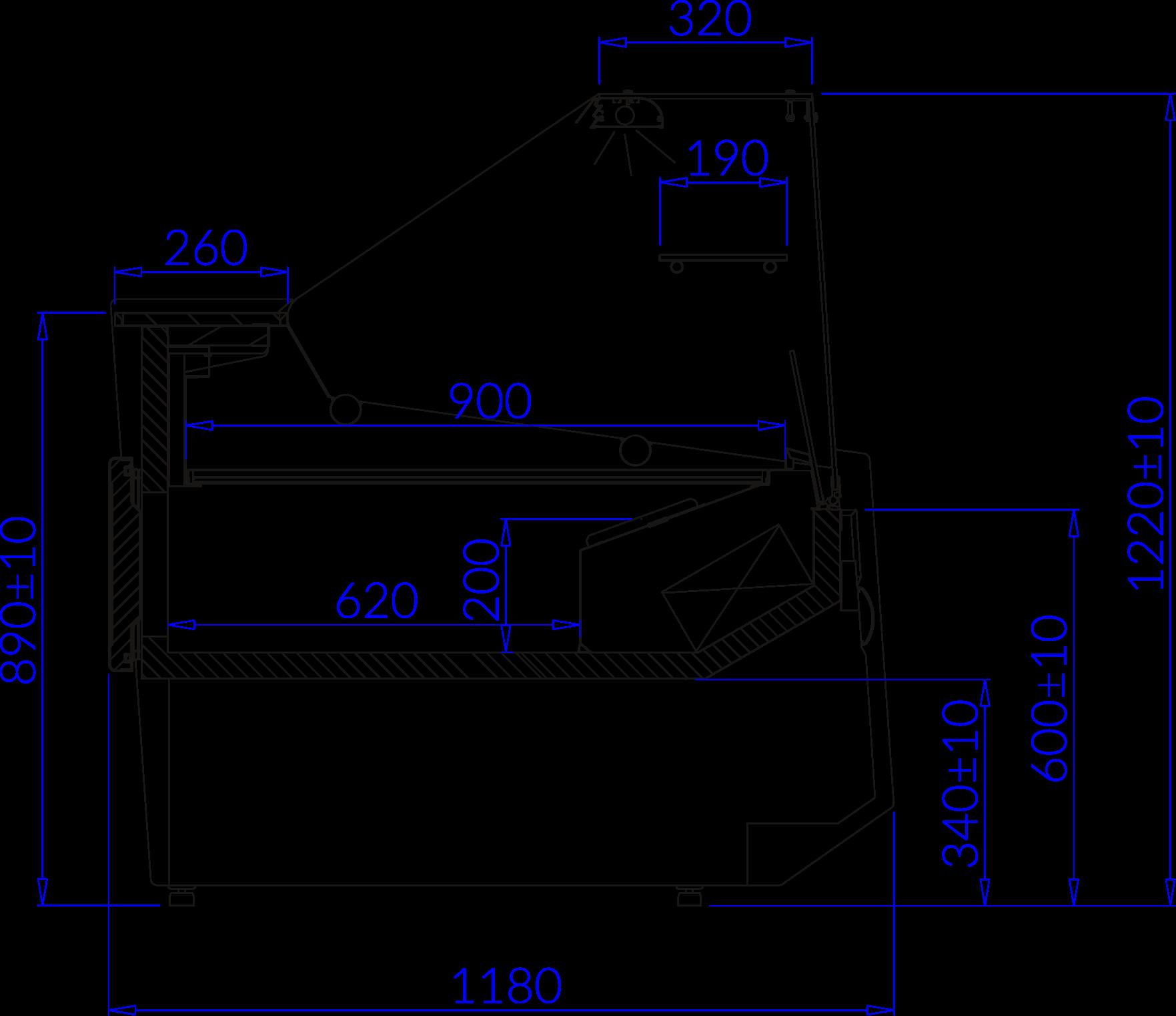Rysunek techniczny Witryna chłodnicza LUZON DEEP
