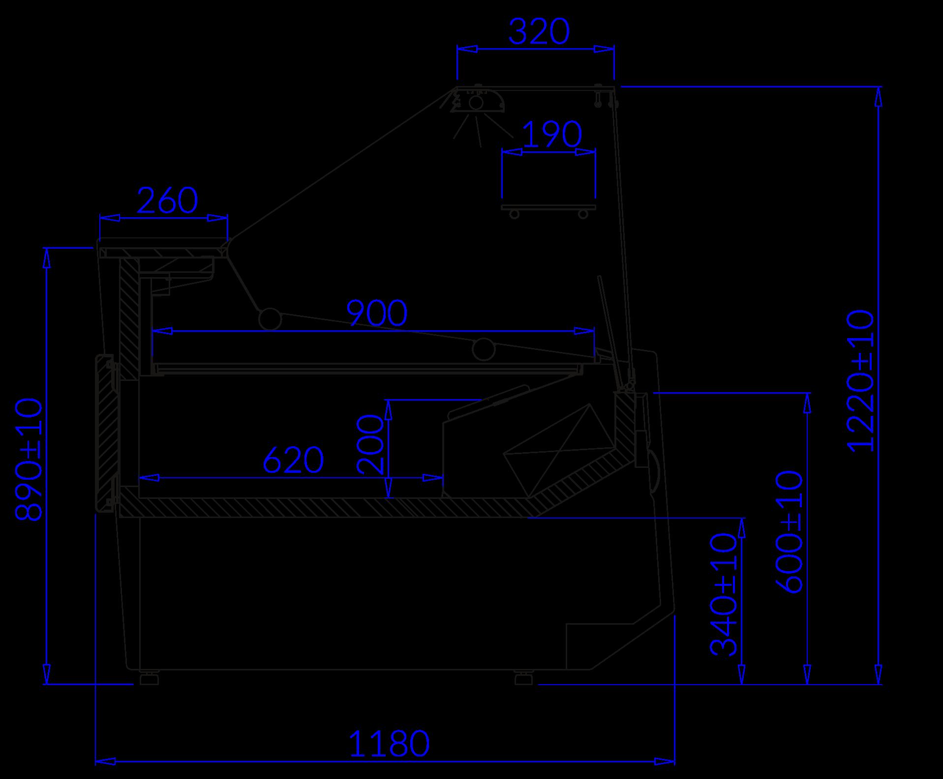 Rysunek techniczny Witryna chłodnicza LUZON DEEP MOD C
