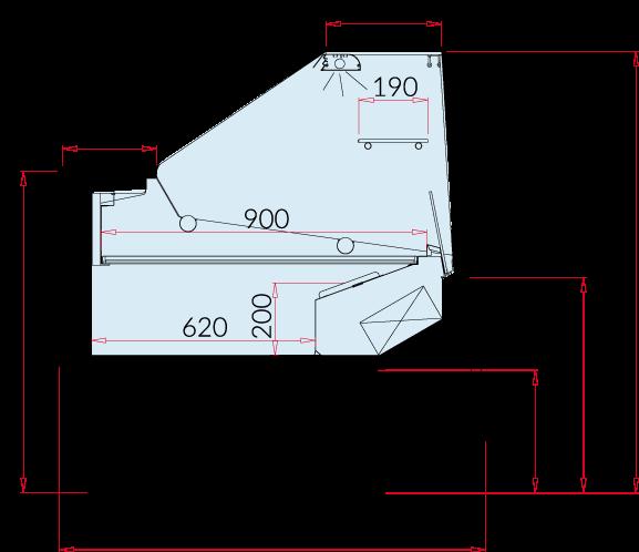 Rysunek techniczny Witryna chłodnicza LUZON DEEP NZ90