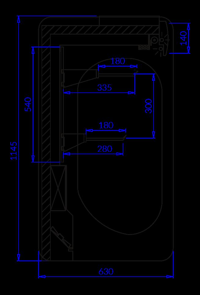 Rysunek techniczny Regały chłodnicze MIŁOSZ 2 MOD C
