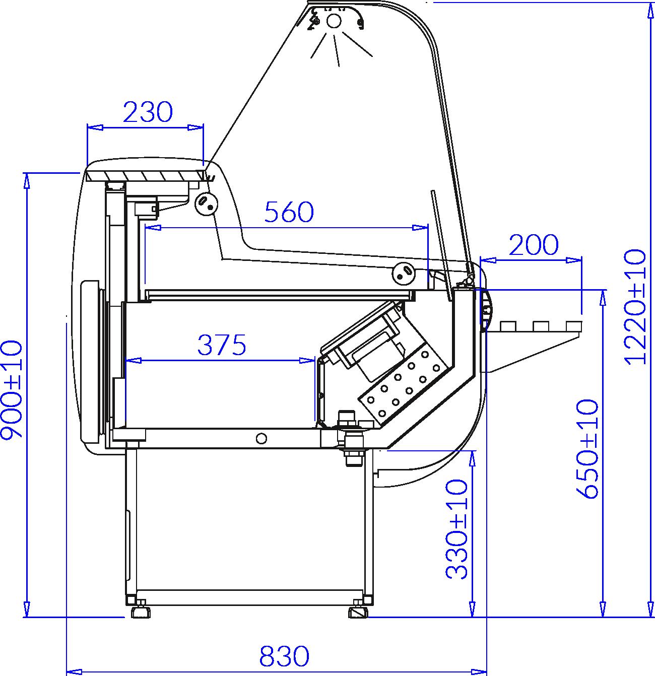 Rysunek techniczny Witryna chłodnicza MONIKA DEEP