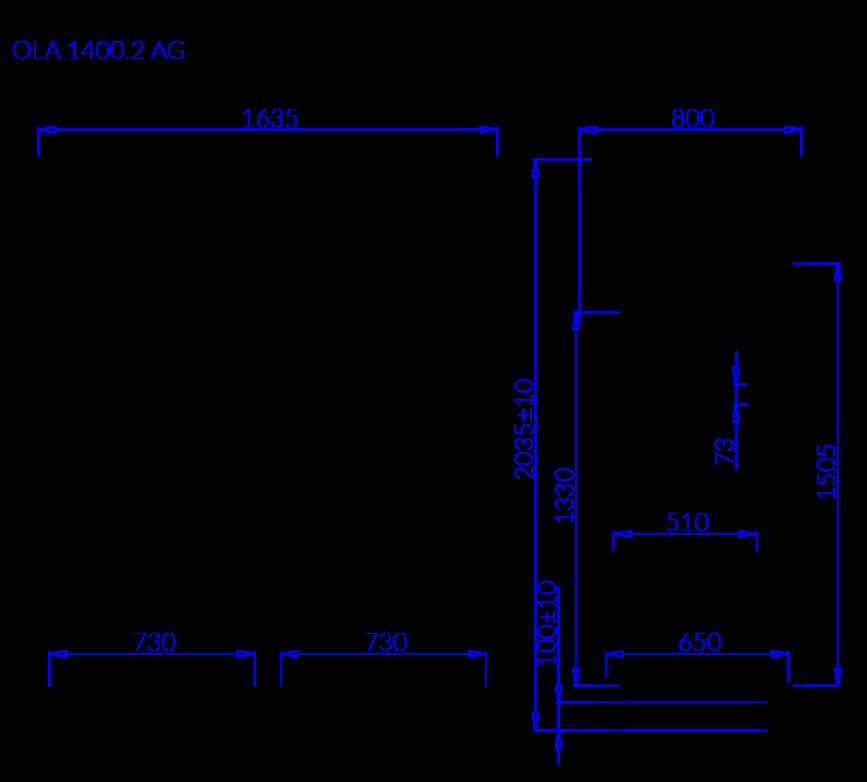 Rysunek techniczny OLA 2 AG