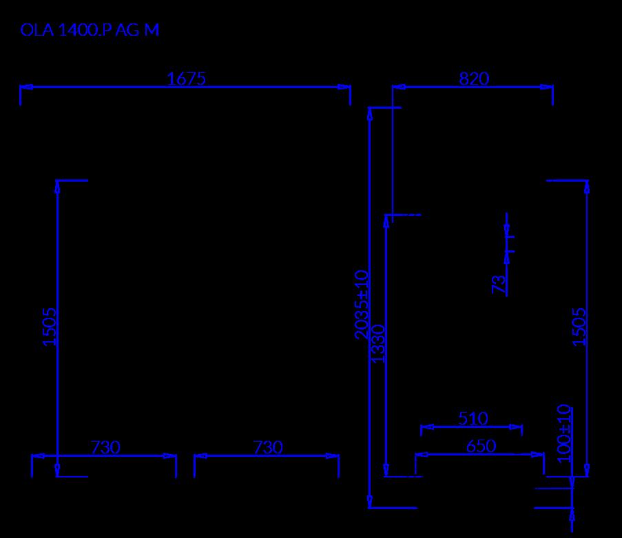 Rysunek techniczny OLA P AG M