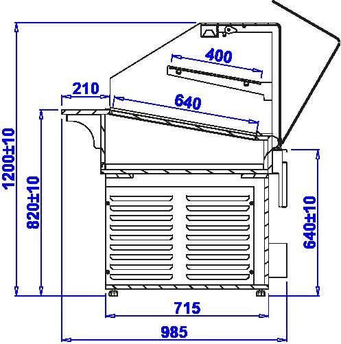 Rysunek techniczny Witryna cukiernicza PASTELLA NEUTRAL BAKE