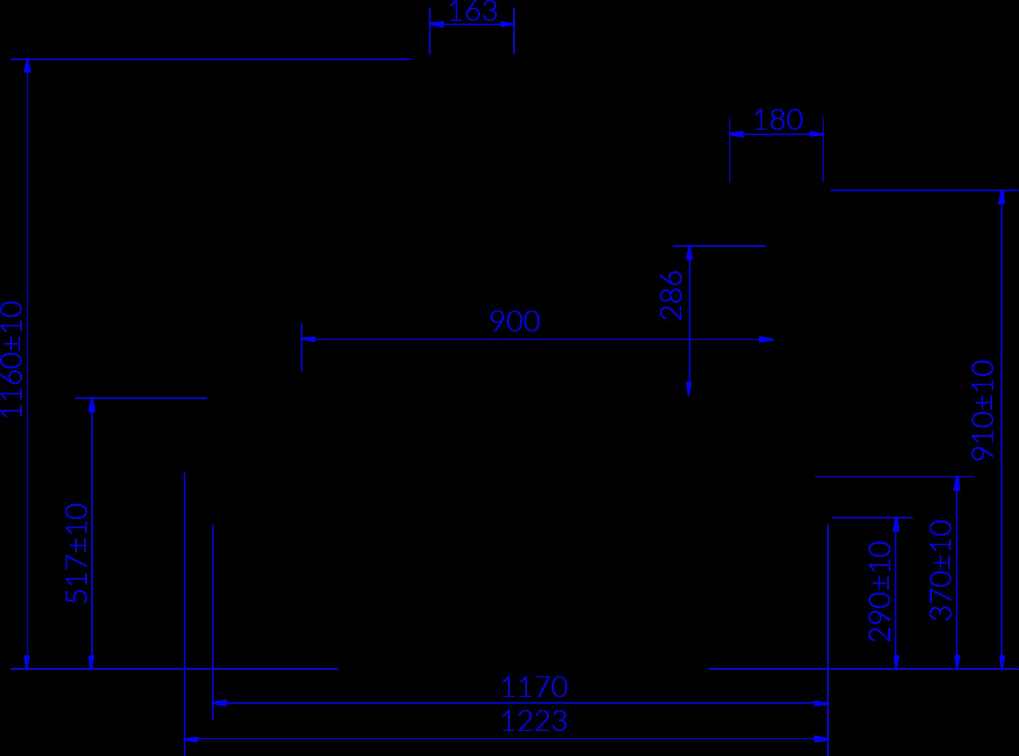 Rysunek techniczny Witryna chłodnicza PROXIMA
