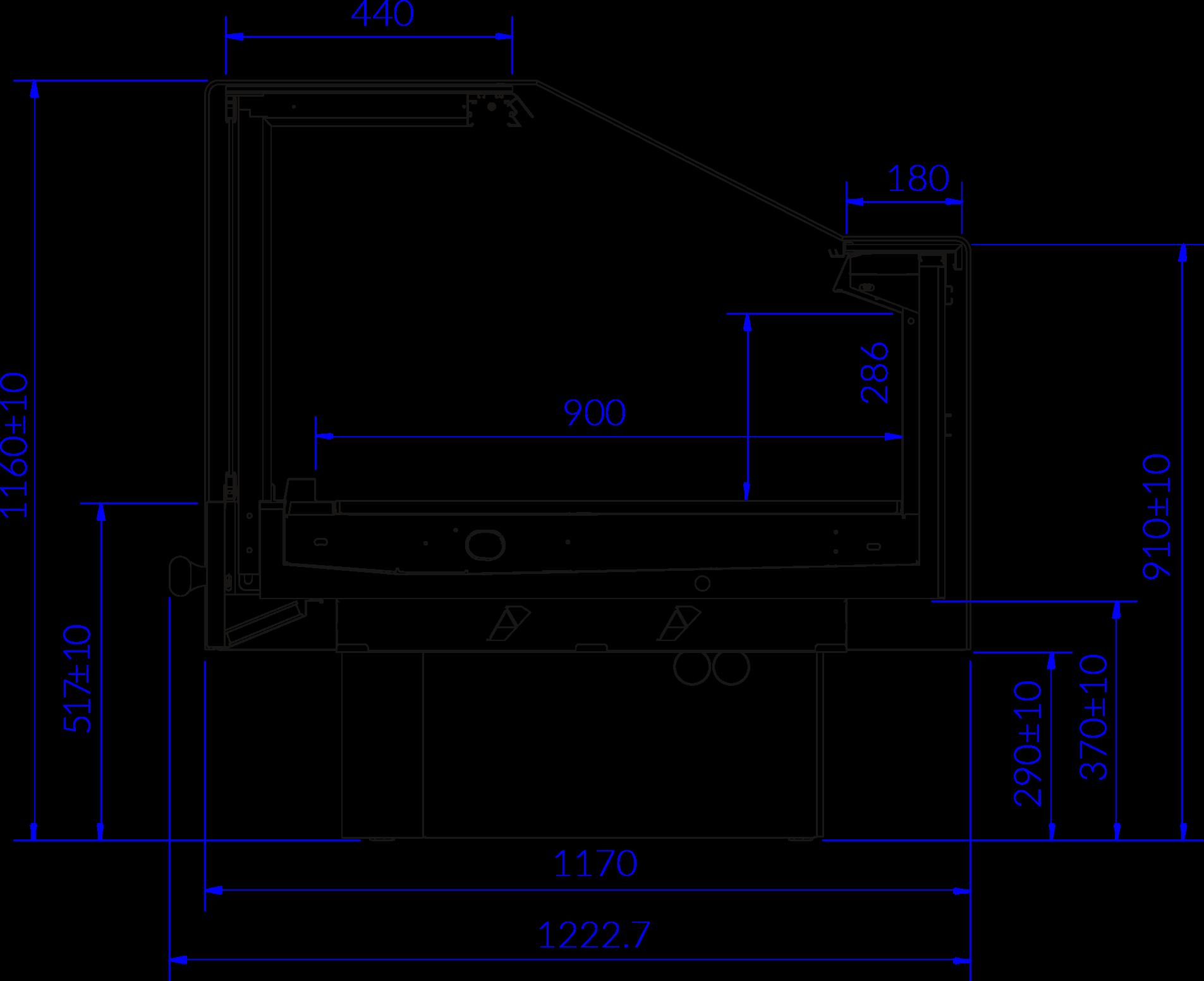 Rysunek techniczny Witryna chłodnicza PROXIMA SQR