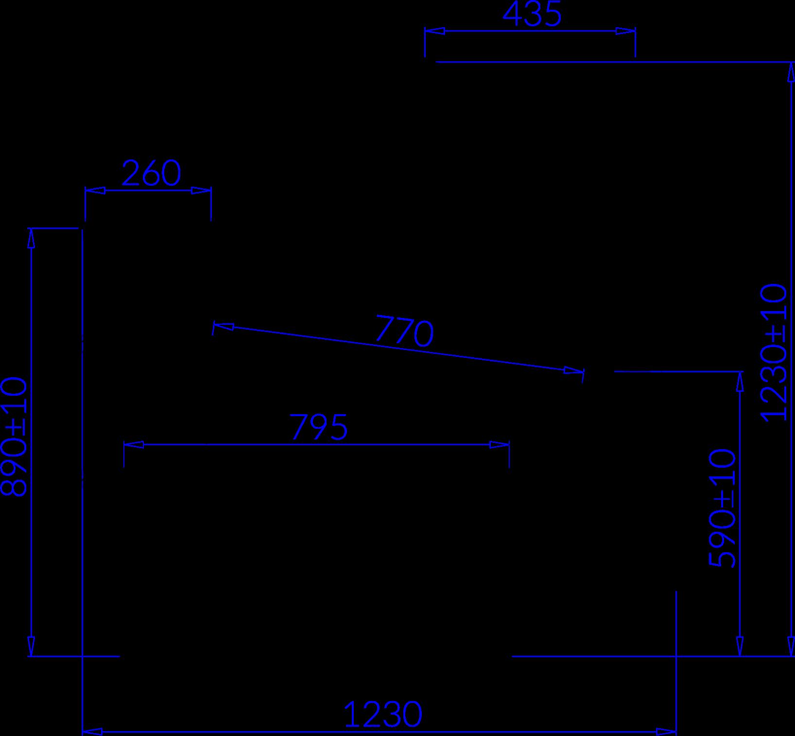 Rysunek techniczny Lada chłodnicza SAMOS
