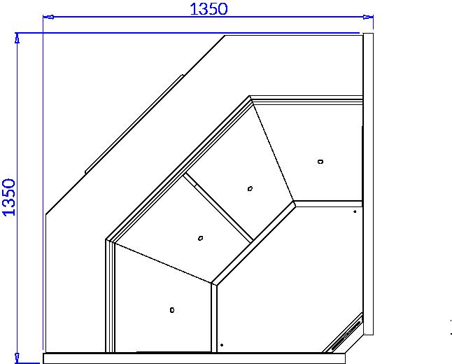 Rysunek techniczny Witryna chłodnicza SAMOS DEEP NW90