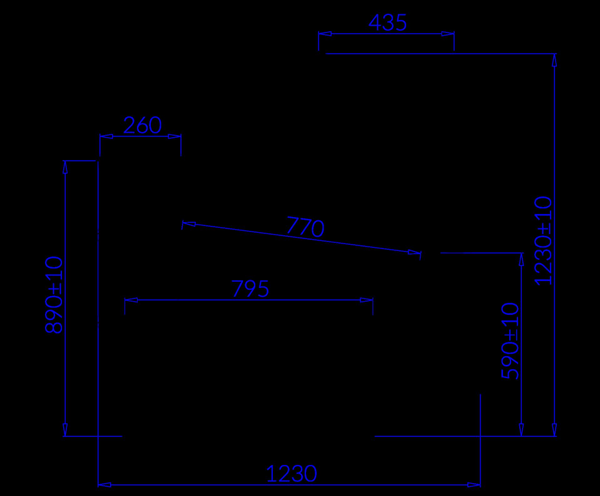 Rysunek techniczny Witryna chłodnicza SAMOS MOD C
