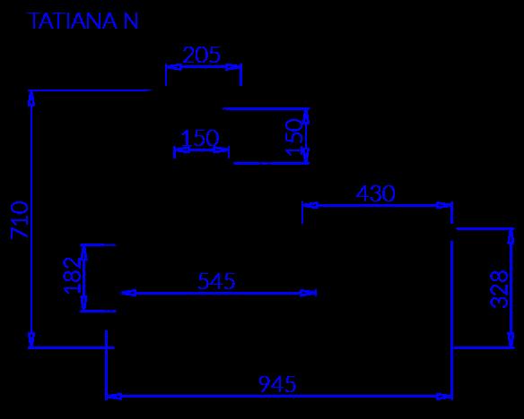 Rysunek techniczny Witryna chłodnicza TATIANA N