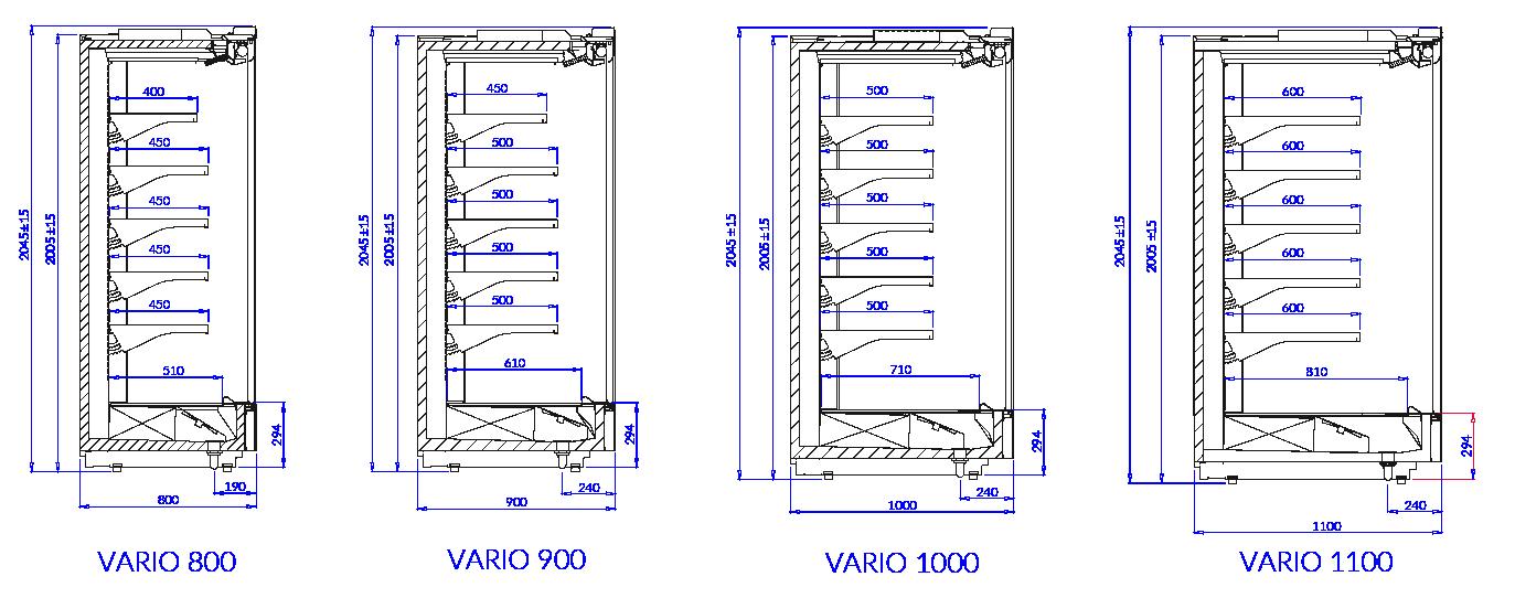 Rysunek techniczny Regał marketowy VARIO L