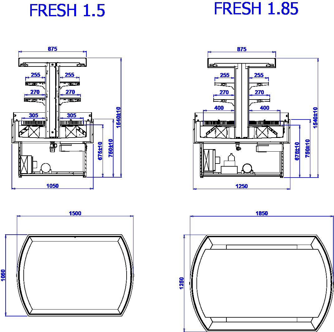 Rysunek techniczny WYSPA FRESH