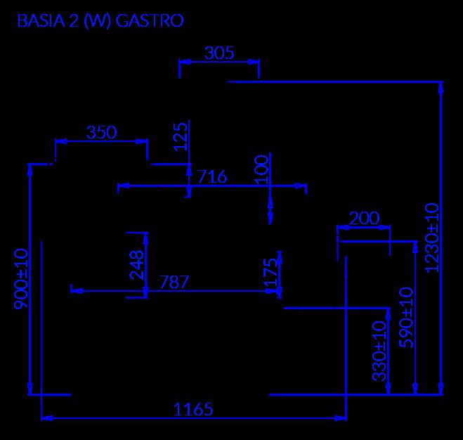 Technische Bezeichnung BASIA 2 W GASTRO