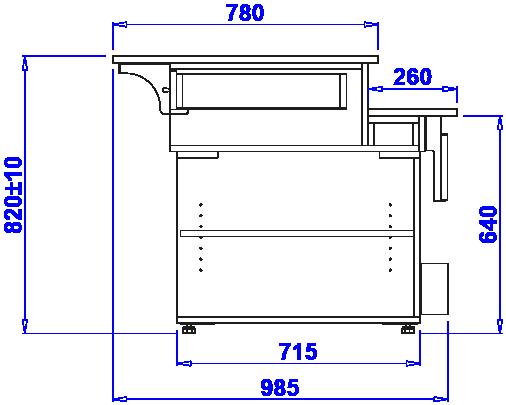 Technische Bezeichnung Kassenladen LADA PASTELLA II STOPNIOWA