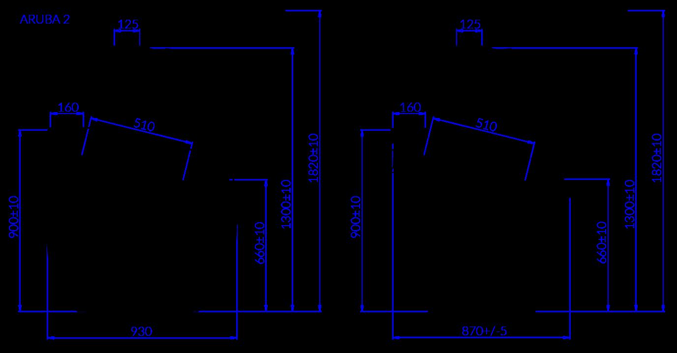 Technical drawing Aruba 2 ARUBA 2