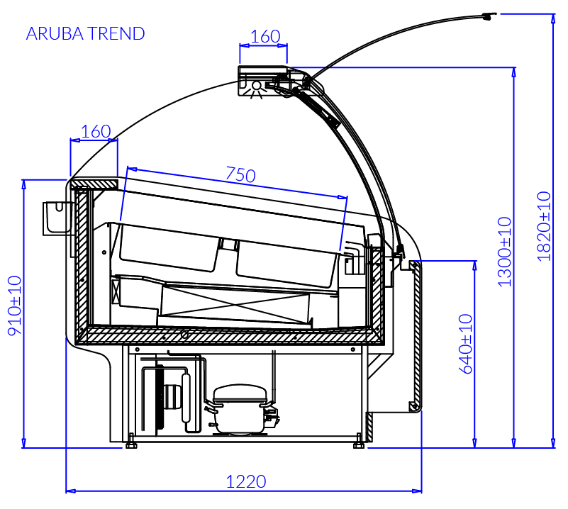 Technical drawing ARUBA TREND