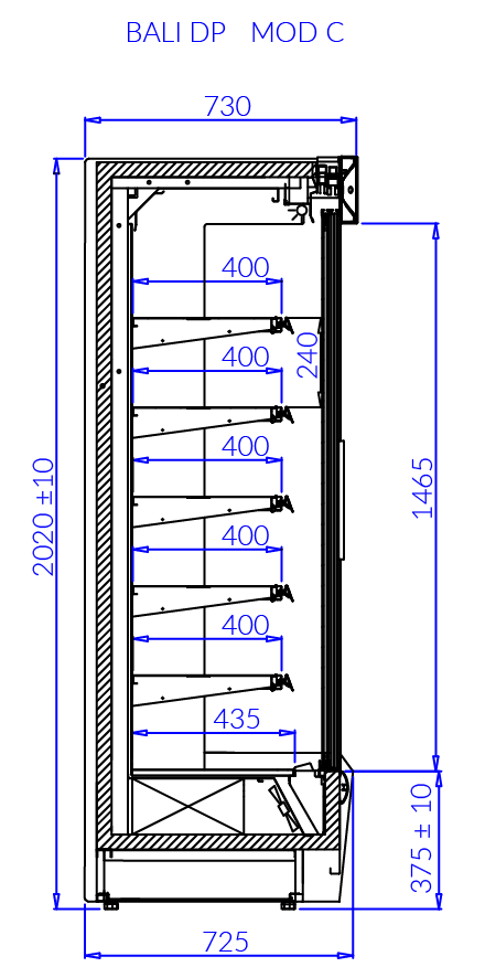 Technical drawing BALI DP MOD/C BALI DP MOD C