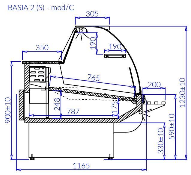 Technical drawing BASIA 2 S MOD C