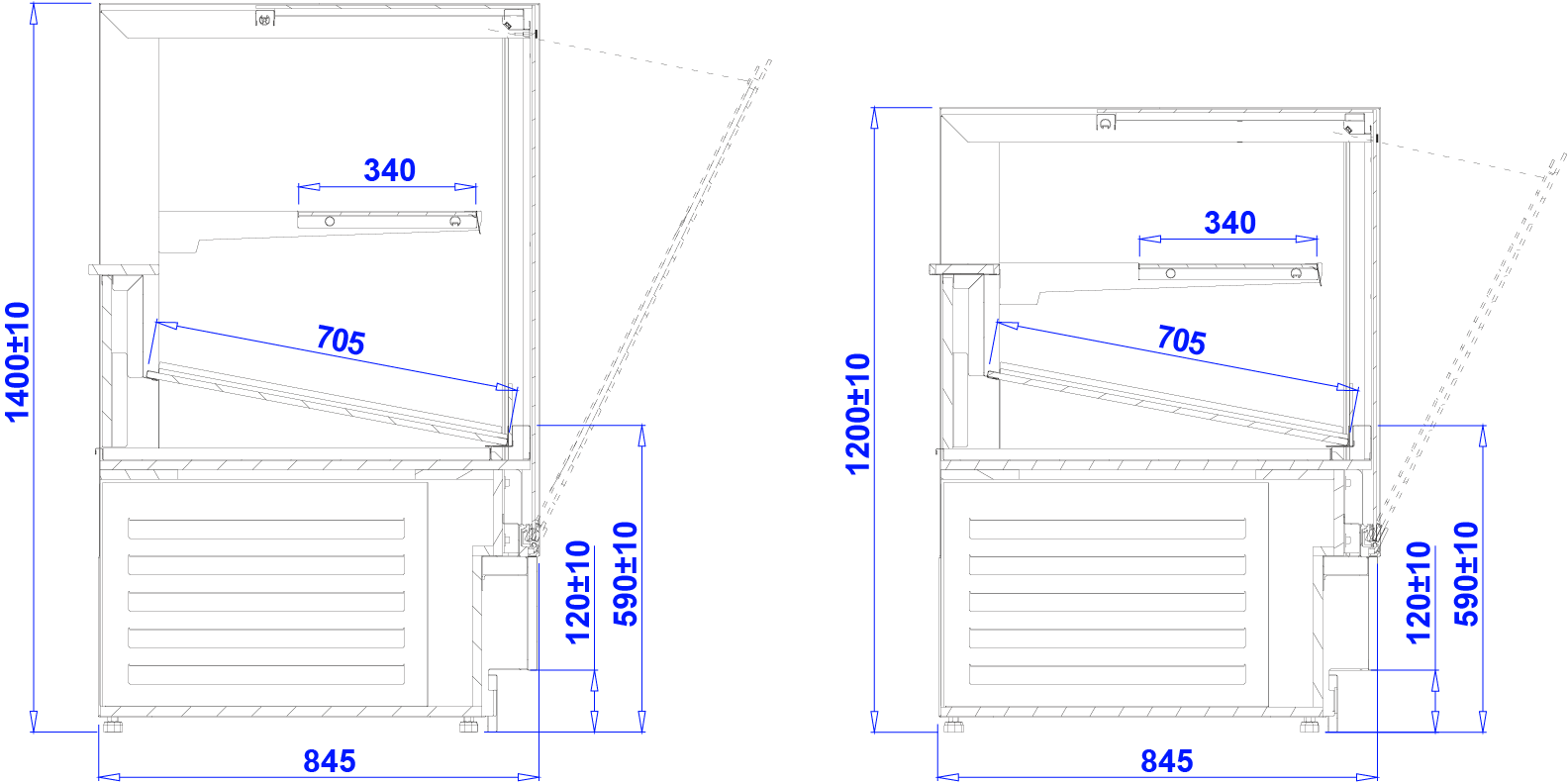 Technical drawing CUBE 2 BAKE