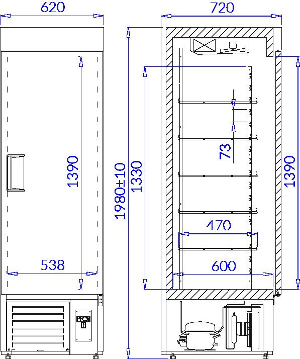 Technical drawing EWA P EWA P