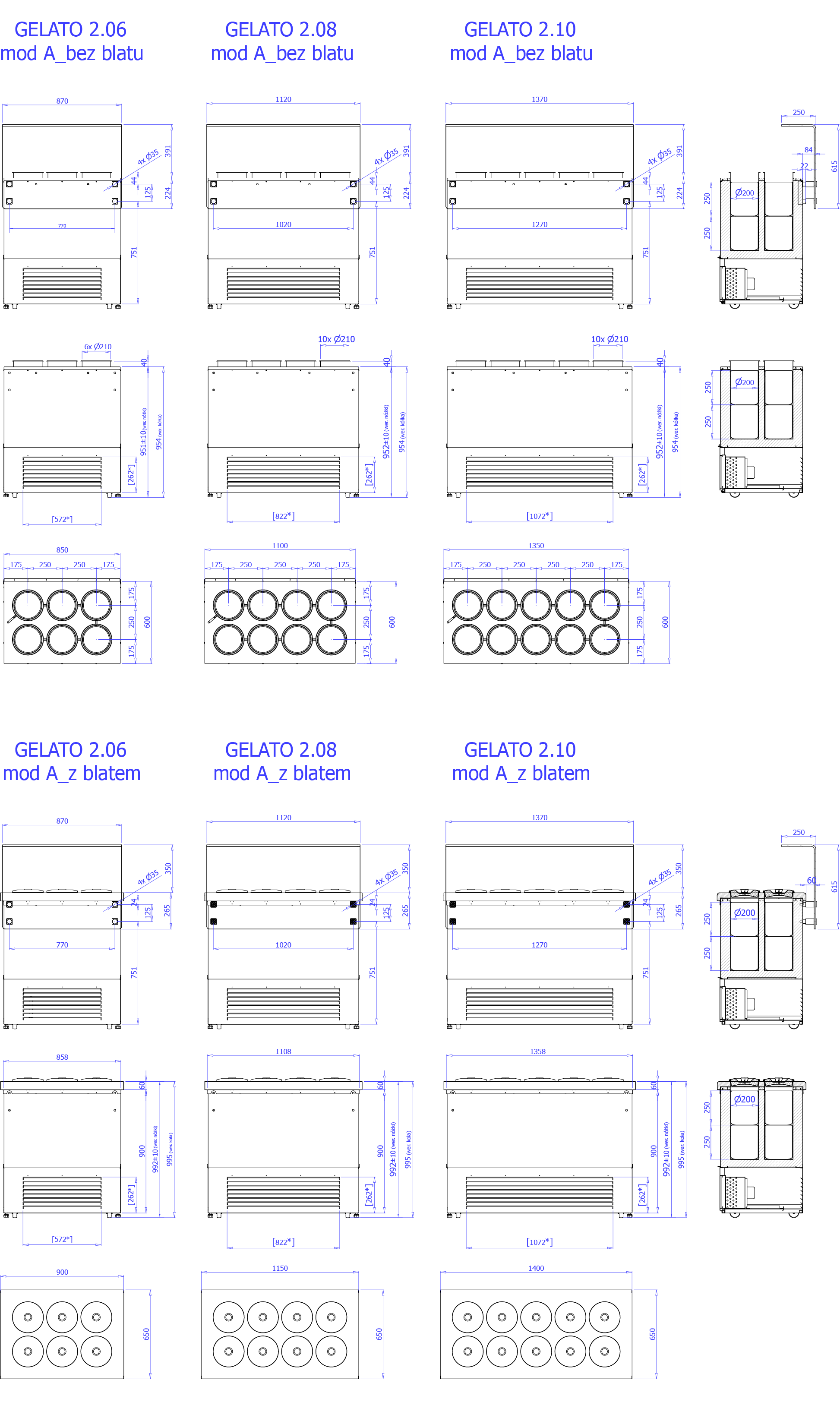 Technical drawing GELATO 2 MOD A