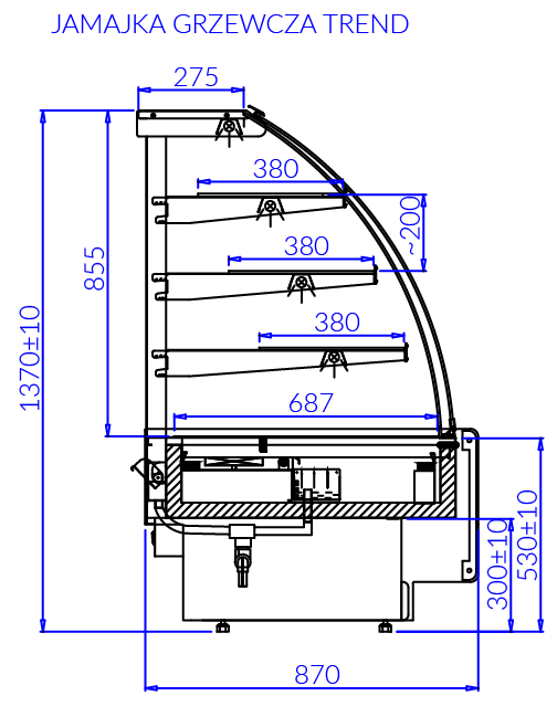 Technical drawing JAMAJKA G TREND JAMAJKA G TREND